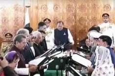 سولہ رکنی وفاقی کابینہ نے حلف اٹھا لیا
