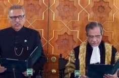 ڈاکٹرعارف علوی نے صدرمملکت کےعہدے کاحلف اٹھا لیا