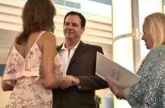 امریکی جوڑے نے مائیکل طوفان کے دوران ایئرپورٹ پر ہی شادی رچالی