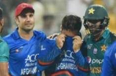 شکست پر دلبرداشتہ افغان بولر کو شعیب ملک کی تسلی نے مداحوں کے دل جیت ..