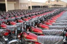اپریل کے مہینے میں موٹرسائیکلوں کی درآمدات میں نمایاں کمی