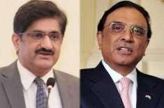 آصف علی زرداری کی سید مراد علی شاہ کو وزیراعلیٰ منتخب ہونے پر مبارکباد
