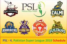 PSL 2019 schedule revealed; Karachi to host 5 matches, Lahore 3