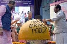 وزیر اعظم مودی کی سالگرہ پر 568کلو کا لڈو تیار