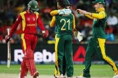 جنوبی افریقہ اور زمبابوے کی ٹیمیں پہلے ون ڈے انٹرنیشنل میچ میں (کل)آمنے ..