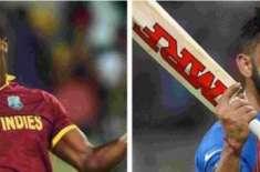 بھارت اور ویسٹ انڈیز کی کرکٹ ٹیموں کے درمیان پہلا ایک روزہ میچ 21اکتوبر ..