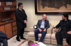 ترک وزیر داخلہ کا پاکستان پہنچنے پر وزیر مملکت شہر یار آفریدی نے استقبال ..