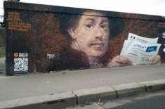 فرانسیسی مصنف دیواروں پر تصاویر بنا کر بٹ کوائن کمانے لگا