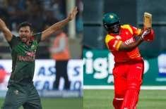 بنگلہ دیش اور زمبابوے کی ٹیموں کے درمیان پہلا ٹیسٹ میچ 3 نومبر سے شروع ..