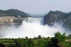 تربیلاڈیم سے بجلی کی پیداوار2910میگاواٹ، پانی کی سطح1490.44فٹ ہوگئی