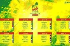 سکس اے سائیڈانٹرنیشنل سوکا ورلڈ کپ کا ُپرتگال کے شہرلسبن میں آغاز ..