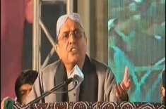 صحافی کا آصف زرداری سے سندھی میں سوال،سابق صدر کا اردو میں  جواب