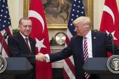 ترک صدرکی شام میں ممکنہ فوجی آپریشن پر امریکی ہم منصب سے ٹیلیفون پر ..
