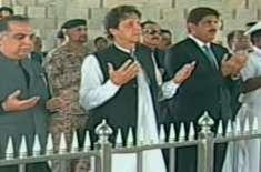 وزیراعظم عمران خان کی مزار قائد پر حاضری