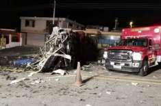 کولمبیا سے وینزویلا جانے والی مسافر بس ایکواڈور میں حادثے کا شکار ہوگئی' ..