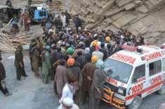 کوئٹہ : سنجدی کوئلہ کان میں ریسکیو کا کام دوبارہ شروع2اور لاشیں نکال ..