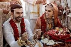 دپیکا پڈوکون اور رنویر سنگھ کی شادی کی تصاویر سامنے آگئیں