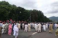 کراچی،عام انتخابات میں دھاندلی کے خلاف اپوزیشن جماعتوں کے تحت آل پارٹیز ..