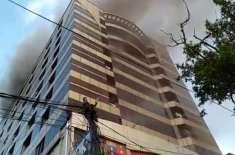 علی ٹاورمیں آگ سےریکارڈ یا فرینچرکونقصان نہیں پہنچا