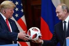 روسی صدر نے ٹرمپ کو پاکستان کا بنا ہوا فٹ بال تحفے میں پیش کردیا