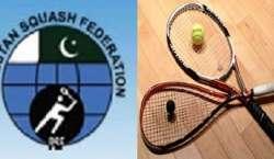 پاکستان سکوائش فیڈریشن کے صدر ایئر چیف مارشل مجاہد انور خان و دیگر ..