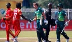 جنوبی افریقہ اور زمبابوے کے درمیان تیسرا اور آخری ون ڈے انٹرنیشنل ..