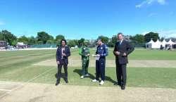 پہلا ٹی ٹوئنٹی، پاکستان کا اسکاٹ لینڈ کیخلاف ٹاس جیت کر پہلے بیٹنگ ..