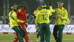 جنوبی افریقہ اور زمبابوے کی کرکٹ ٹیموں کے درمیان دوسرا میچ کل کھیلا ..
