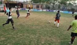 اسلام آباد امن فٹ بال ٹورنامنٹ میں کل فرینڈز کلب کا مقابلہ القائم ..