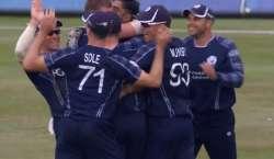 اسکاٹ لینڈ نے نمبر ون ٹیم انگلینڈ کو ایک روزہ میچ میں 6رنز سے شکست دیکر ..