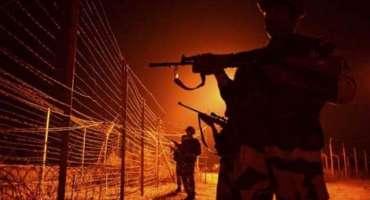 آزاد کشمیر کے علاقے بھبھر میں بھارتی فورسز کی پاکستانی علاقے میں بلا ..