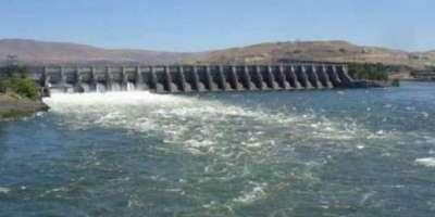 تربیلا ڈیم میں پانی کی سطح میں کمی کا سلسلہ جاری ہے، لیول 1455.21 فٹ رہ ..