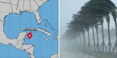 فلوریڈا اور میکسیکو ساحل میں سمندری طوفان مائیکل کی تباہ کاریوں کے ..
