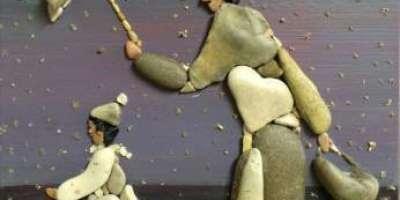 ساحل پر پڑے بے کار پتھروں سے بنائی گئیں چند حیرت انگیز تصاویر