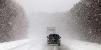 امریکا کی مختلف ریاستوں میں شدید برفباری سے نظام زندگی مفلوج