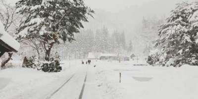 شمالی جاپان میں شدید سردی،