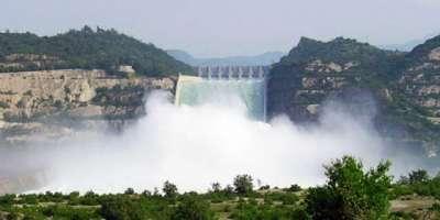 تربیلا ، منگلا اور چشمہ کے آبی ذخائر میں  پانی کی آمد و اخراج کی صورتحال