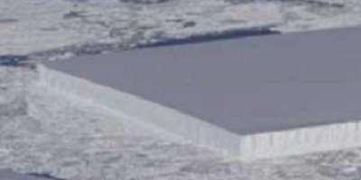 ناسا نے براعظم انٹارکٹکا میں برف کا مکمل طور پر مستطیل ٹکڑا دریافت ..