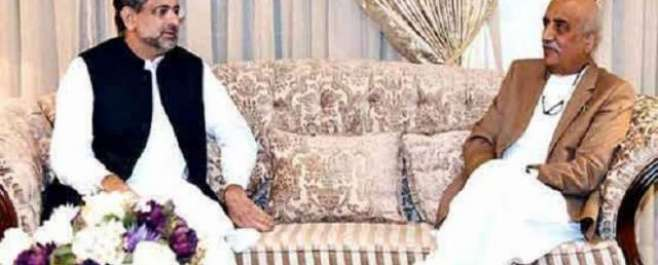 نگران وزیراعظم کا تقرر:وزیراعظم شاہد خاقان عباسی اور سید خورشید شاہ ..