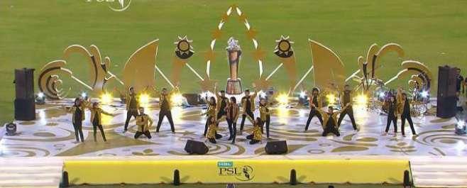 نیشنل سٹیڈیم کراچی میں پاکستان سپر لیگ کی اختتامی تقریب ،ْ فنکاروں ..