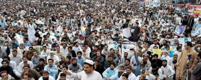 پشاور میں پشتون تحفظ موومنٹ کے زیراہتمام جلسہ کا انعقاد، قبائلی عوام ..