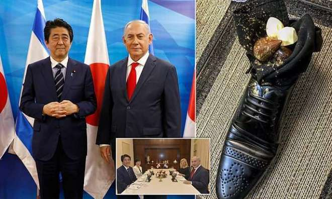 اسرائیل،جاپانی وزیراعظم کو 'جوتی' میں میٹھا پیش کرنے کا معاملہ تنازعہ ..