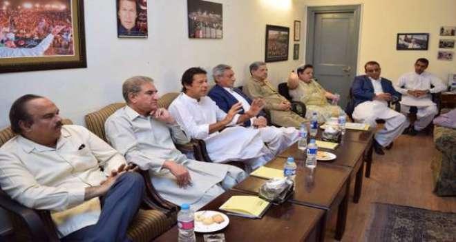 تحریک انصاف کی میڈیا سٹریٹجی کمیٹی کا اجلاس ،ٹکٹ سے محروم رہنے والوں ..