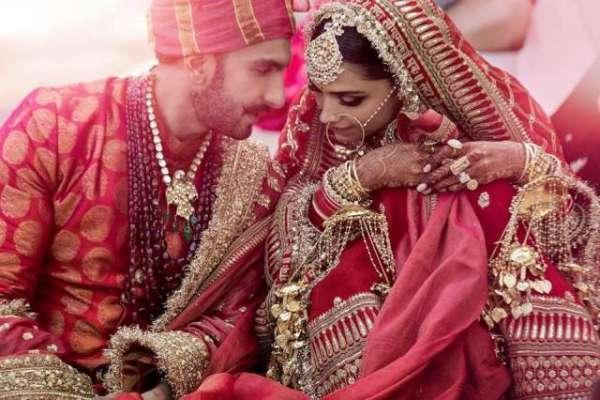 دیپیکا پڈوکون اور رنویر سنگھ کی شادی کی دو تصاویر سوشل میڈیا پر وائرل