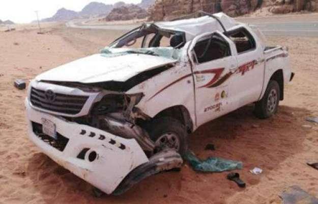 سعودی عرب میں گاڑی الٹنے سے دو پاکستانی شہری جاں بحق