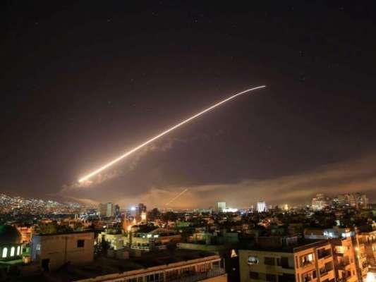 اسرائیل نے راکٹ حملے کو جواز بنا کر شام میں ایرانی تنصیبات کے خلاف بڑے ..