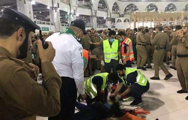 سعودی عرب ، حرم پاک میں مبینہ خودکشی کرنے والے پاکستانی تارک کی تصاویر ..