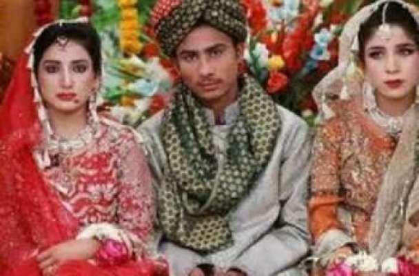 نوجوان کی دو لڑکیوں سے شادی کا ڈراپ سین ہو گیا