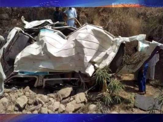 سماہی و میرپور جانے والی مسافر وین کھائی میں گرگئی ،ْچودہ افراد جاں ..
