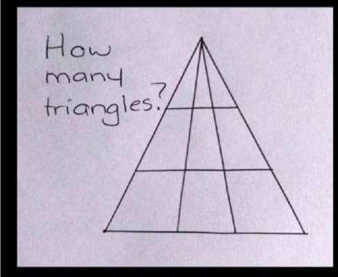 اس ایک مثلث میں کتنی مثلث ہیں؟   آسان سے سوال نےانٹرنیٹ صارفین کو چکرا ..